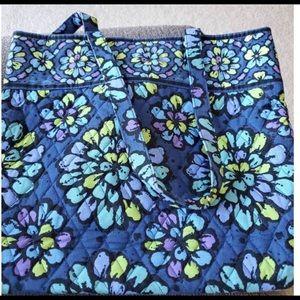 Vera Bradley Tote Bag in Indigo Pop